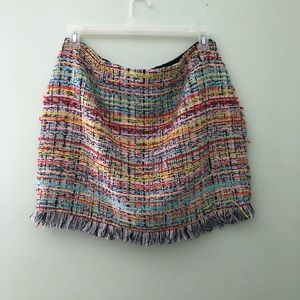 Tweed Multi colored mini skirt